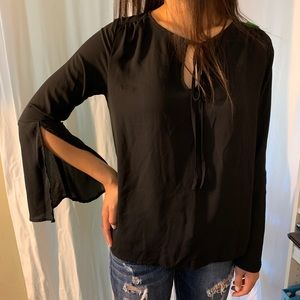 Lulus Black Blouse Top